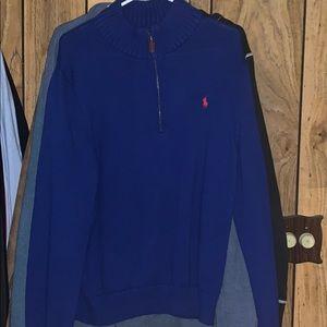 Men's polo collar sweater